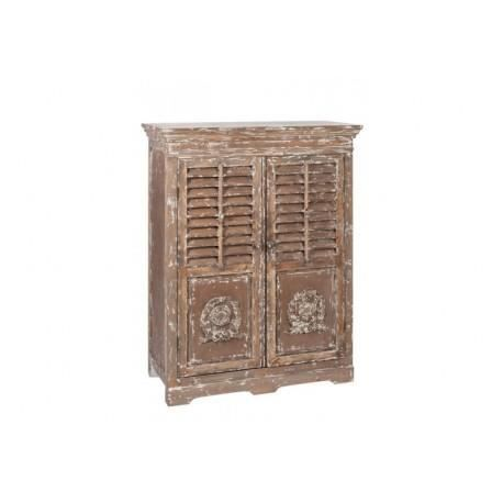 Meuble 2 plateaux 2 portes bois antique marron achat for Meuble antique a donner