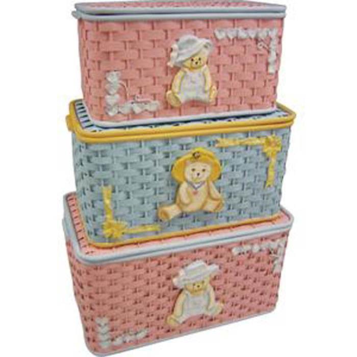 coffres jouets en bambou assortis doubl 100 achat vente coffre jouets 6037656956782. Black Bedroom Furniture Sets. Home Design Ideas