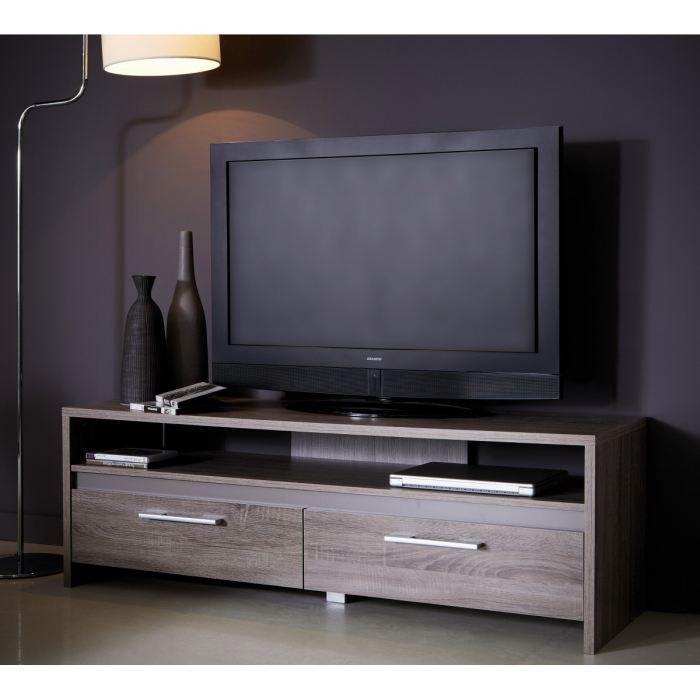 Steen banc tv 139cm coloris ch ne fonc et basalte achat for Banc de tv design