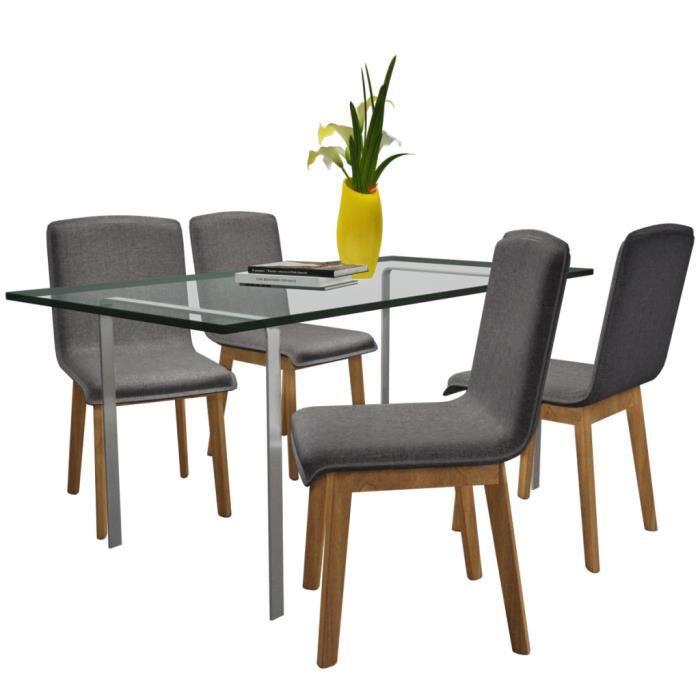4pcs chaises gondole de salle manger ou de salon en for Chaise de salle a manger en chene