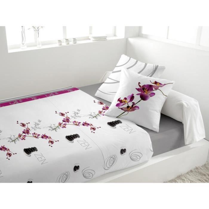 parure de drap en flanelle galet blanc achat vente parure de drap cdiscount. Black Bedroom Furniture Sets. Home Design Ideas