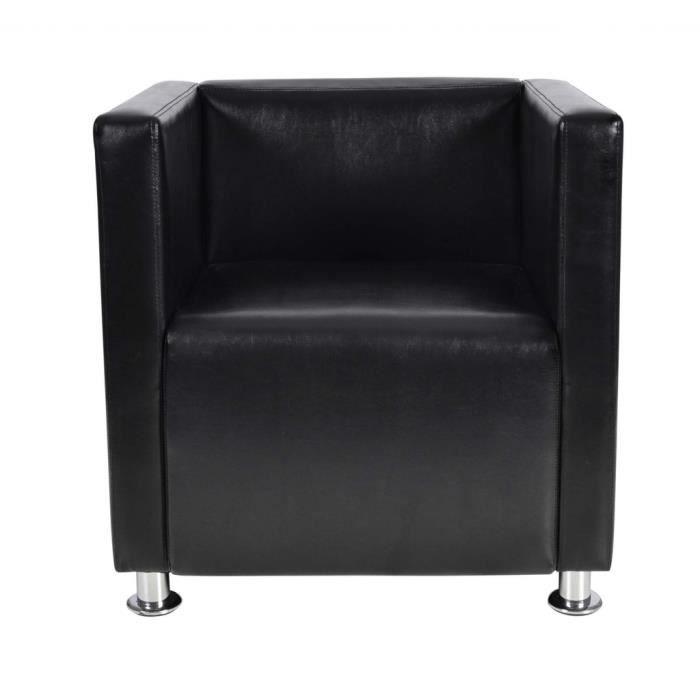 fauteuille design club noir achat vente fauteuil cuir synth tique cdiscount. Black Bedroom Furniture Sets. Home Design Ideas