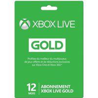 ABONNEMENT JEUX Abonnement XBOX Live Gold 12 mois