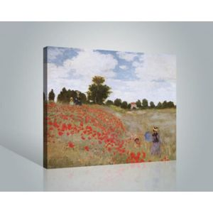 Tableau coquelicot 40 x 40 achat vente tableau for Poster sur toile