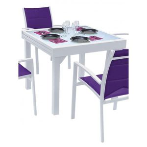 Table blanche 8 personnes achat vente table blanche 8 for Taille table 8 personnes