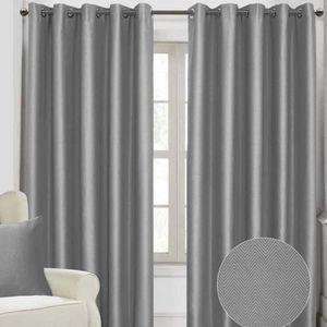 rideau gris argent achat vente rideau gris argent pas cher cdiscount. Black Bedroom Furniture Sets. Home Design Ideas