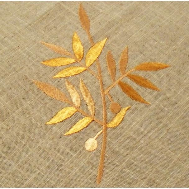 Branches brodees miel polylin service carre 170 achat for Nappe de table carre