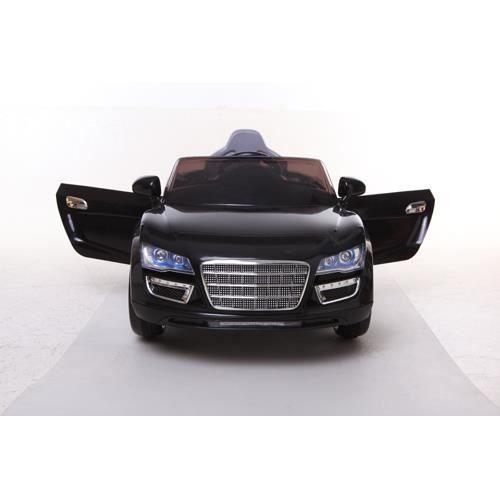 audi r8 style noir m tallis e 12volt pour enfant achat vente voiture enfant cdiscount. Black Bedroom Furniture Sets. Home Design Ideas