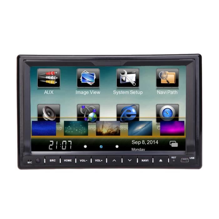 universel 7 hd touch screen 2 din voiture lecteur dvd usb sd gps bluetooth st r o radio voiture. Black Bedroom Furniture Sets. Home Design Ideas