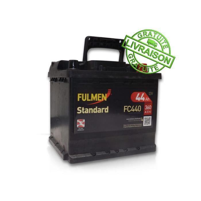 batterie de demarrage fulmen standard 12v 44ah 360a d fc440 achat vente batterie v hicule. Black Bedroom Furniture Sets. Home Design Ideas