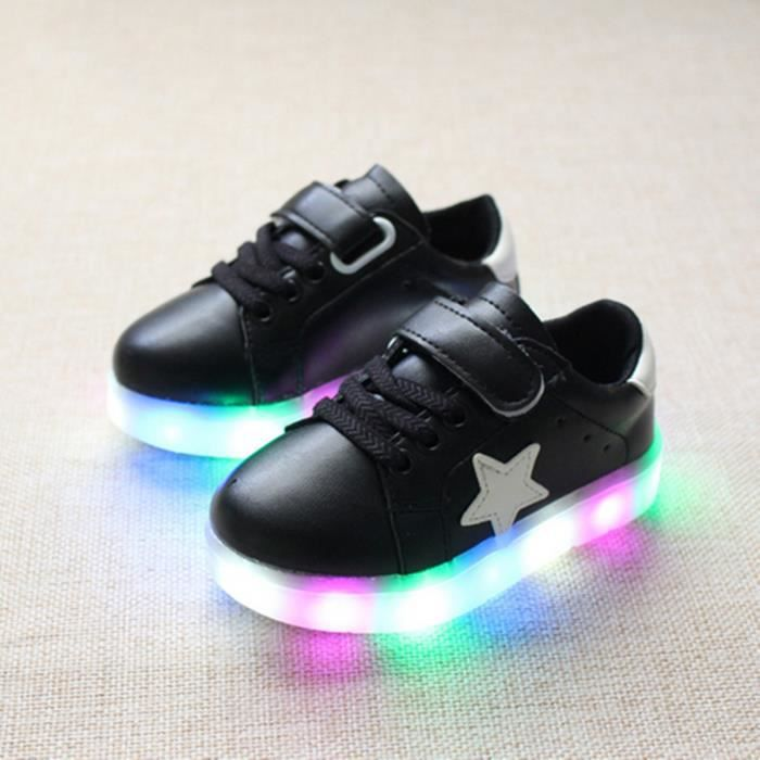 enfants chaussures casual 2016 mode gar ons filles sport chaussures b b lumi re led lumineux. Black Bedroom Furniture Sets. Home Design Ideas