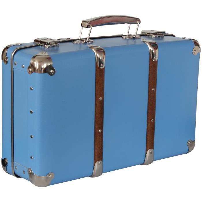 valise d corative rangement bleuet 40x27x14cm achat
