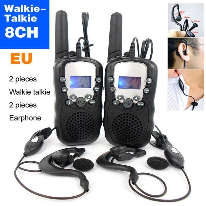 mini walkie talkie enfants radio 8 channel 0 5w uhf auto. Black Bedroom Furniture Sets. Home Design Ideas