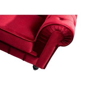Fauteuil rouge velours achat vente fauteuil rouge velours pas cher cdis - Fauteuil chesterfield velours rouge ...