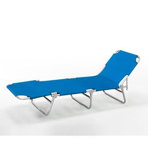 Chaise longue de jardin en plastique achat vente for Transat de plage pliant