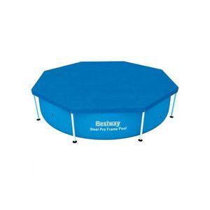 B che couverture tapis de sol bestway piscine achat for Piscine tubulaire ronde 2 44
