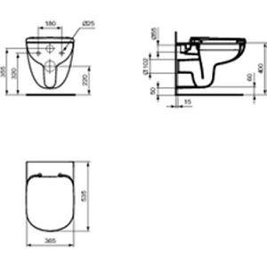 cuvette wc sans reservoir achat vente cuvette wc sans reservoir pas cher cdiscount. Black Bedroom Furniture Sets. Home Design Ideas