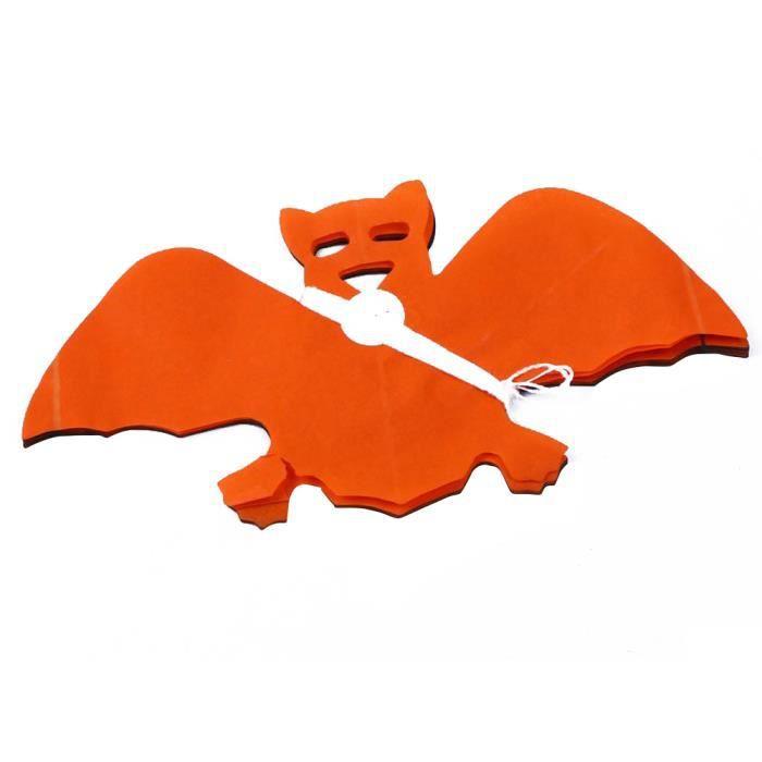 noir et orange papier guirlande chauve souris d 39 halloween d coration props achat vente. Black Bedroom Furniture Sets. Home Design Ideas