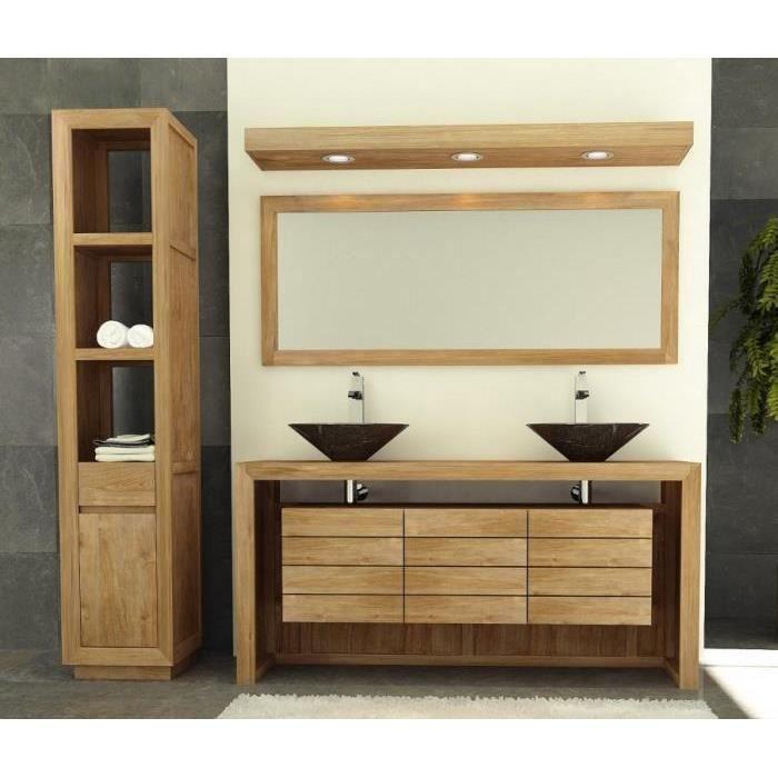 Meuble de salle de bain 2 vasques 4 tiroirs 2 portes - Meuble salle de bain porte coulissante ...