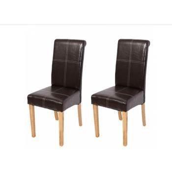 Lot de 2 chaises de salle manger bolzano 2 achat for Lot chaise de jardin