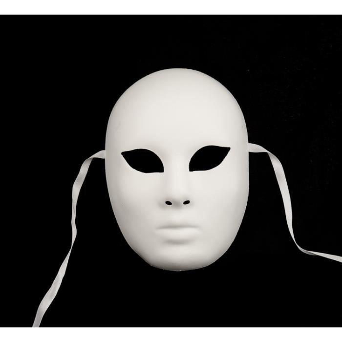 Masque de venise blanc a peindre volto achat vente for Decorer un masque blanc