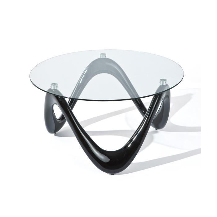 Sinus table basse noire achat vente table basse - Table basse noire pas cher ...