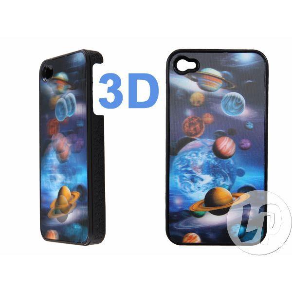 Lot de 2 coque pour iphone 4 3d planetes achat coque for Cuisine 3d pour iphone