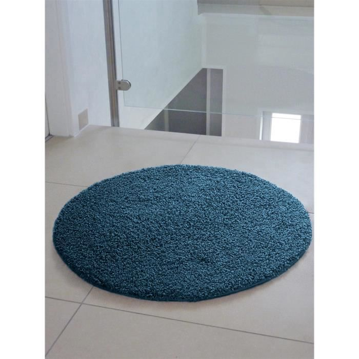 benuta tapis poils longs swirls bleu 80 cm rond achat vente tapis cdiscount. Black Bedroom Furniture Sets. Home Design Ideas