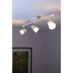 luminaire lustre lampe 3 spots sur rail led plafon achat vente luminaire lustre lampe 3 sp. Black Bedroom Furniture Sets. Home Design Ideas