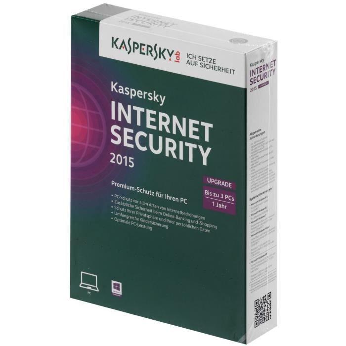 kaspersky internet security 2015 upgrade 3 pc prix. Black Bedroom Furniture Sets. Home Design Ideas