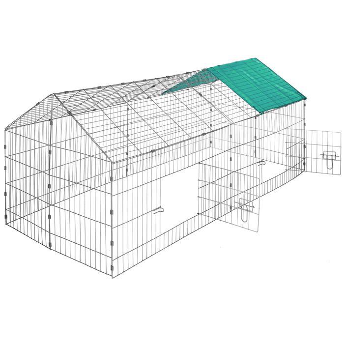 Cage clapier enclos parc d ext rieur lapins et petits for Cage lapin exterieur