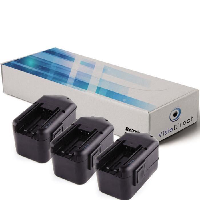 lot de 3 batteries pour milwaukee 0622 24 perceuse visseuse 3300mah 18v achat vente batterie. Black Bedroom Furniture Sets. Home Design Ideas