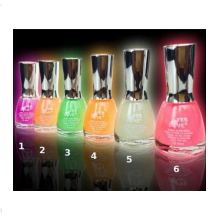 1 vernis phosphorescent translucide brille dans le noir 16 ml maquillage beau - Vernis phosphorescent v33 ...