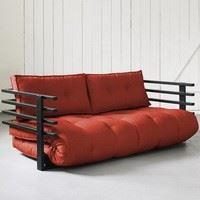 sofa funk futon et bois noir karup achat vente canap sofa divan bois pin massif 100. Black Bedroom Furniture Sets. Home Design Ideas