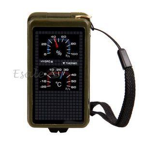 BOUSSOLE - COMPAS Boussole Thermomètre Sifflet Briquet Vert Milit…