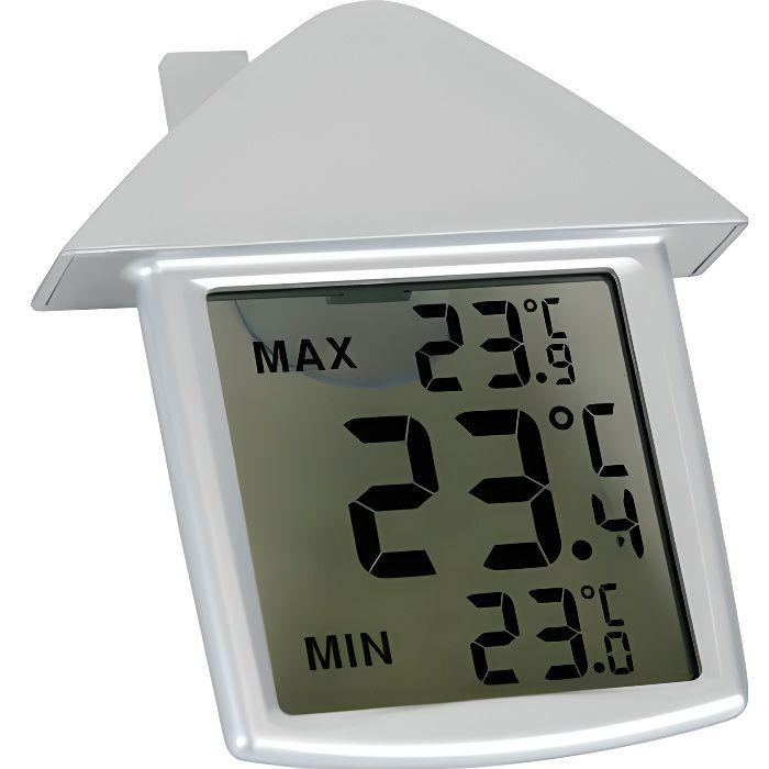 Thermometre interieur exterieur de fenetre min max for Thermometre interieur pas cher