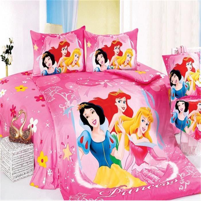 Lm parure de lit enfant disney princess 100 coton achat vente parure de couette cdiscount - Parure de lit enfant disney ...