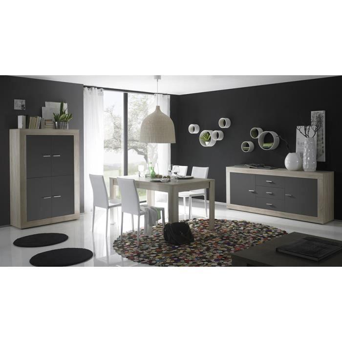 D couvrez la salle manger compl te moderne grise et couleur ch ne cavallo - Salle a manger complete moderne ...