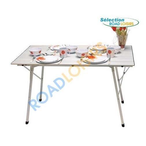 Table pliable 4 personnes 120x70 cm pour s jo achat for Table exterieur pour camping car
