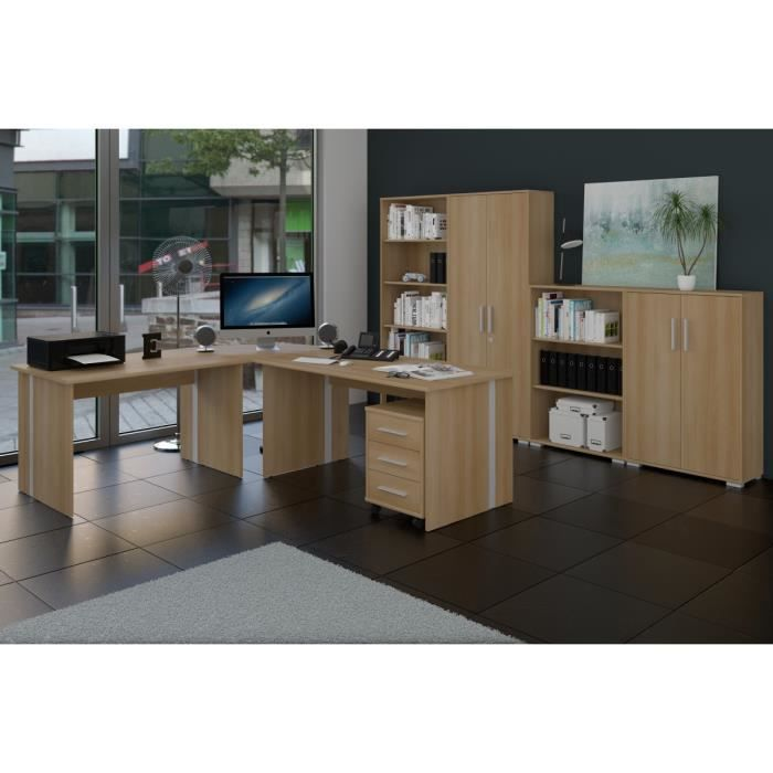 meubles de bureau ensemble bureau de phoenix 8 pi ces finition h tre achat vente armoire de. Black Bedroom Furniture Sets. Home Design Ideas