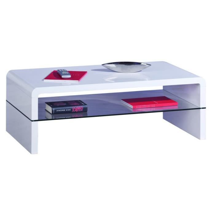 Table basse laqu blanc et plateau en verre achat vente table basse table basse laqu blanc for Table basse verre et blanc