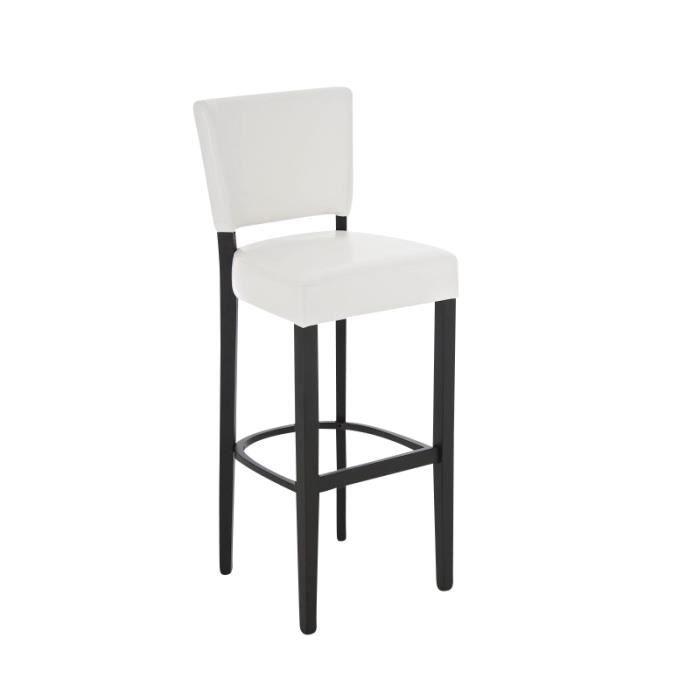 clp tabouret de bar en bois lionel rev tement en pu hauteur de l assise 80 cm 5 couleurs. Black Bedroom Furniture Sets. Home Design Ideas