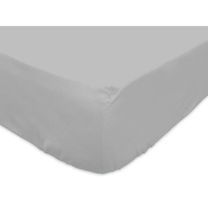 Linge de lit parure de drap soleil d 39 ocre 613825 d achat vente parure - Dimension lit 2 personnes standard ...