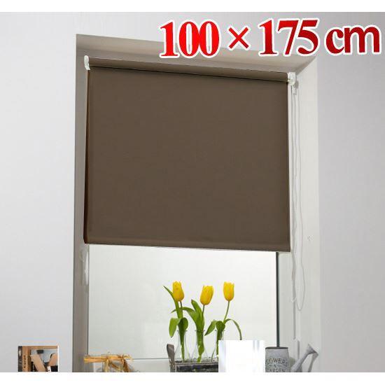 store enrouleur 100x175cm brun achat vente store de. Black Bedroom Furniture Sets. Home Design Ideas