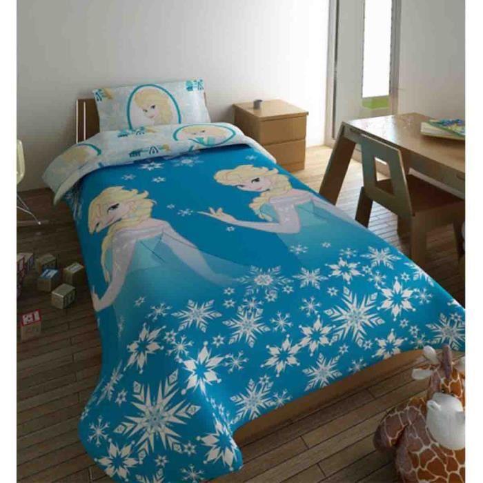 la reine des neiges couette fille avec elsa 140x200 cm. Black Bedroom Furniture Sets. Home Design Ideas