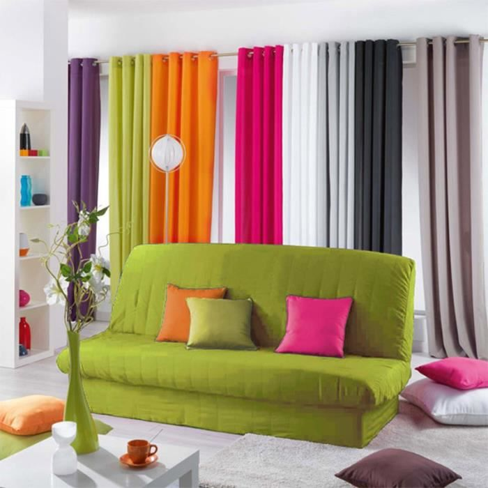 paris prix housse de clic clac essentiel vert anis achat vente housse de canape cdiscount. Black Bedroom Furniture Sets. Home Design Ideas