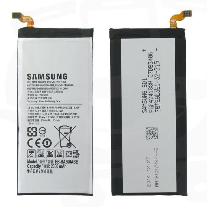 batterie d origine samsung eb ba500abe pour galaxy a5 2300 mah batterie t l phone avis et. Black Bedroom Furniture Sets. Home Design Ideas