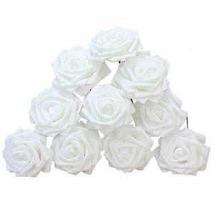 FLEUR ARTIFICIELLE 10x Fleur Rose Artificielle Plante éponge Décorati