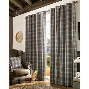 rideau ecossais achat vente rideau ecossais pas cher soldes cdiscount. Black Bedroom Furniture Sets. Home Design Ideas