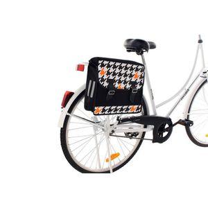 PANIER - SACOCHE VÉLO Sacoche porte-bagages motif Tangerine